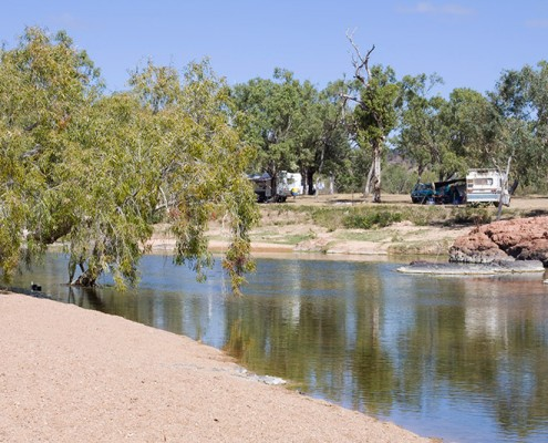 O'Briens-Creek-at-Mount-Surprise-is-a-great-dog-travel-camping-area